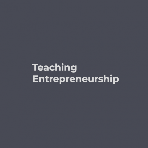 Teaching Entrepreneurship Workshop